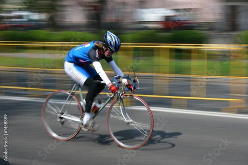 In de dag Fietsen very fast cyclist