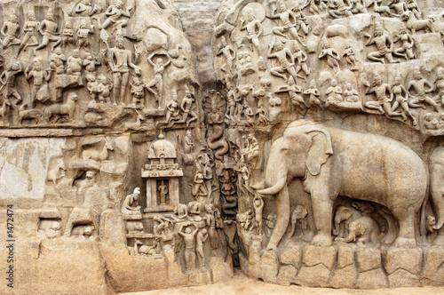 india, mahabalipuram Billede på lærred