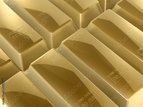 gold bars Canvas Print