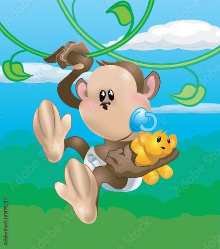 Foto-Vorhang - cute monkey (von Christos Georghiou)