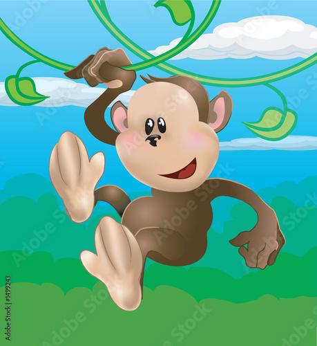Foto-Rollo - cute monkey (von Christos Georghiou)