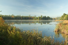 Pond During Sunrise In Bar Har...