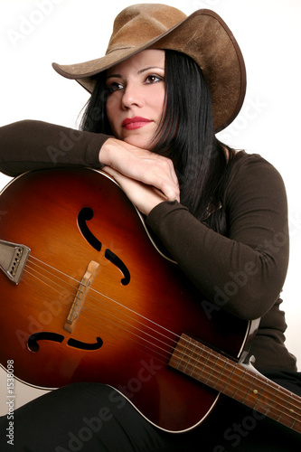 Photo country performer and guitar
