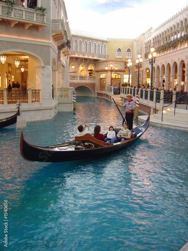 Fotobehang Gondolas gondola ride at venetian, las vegas