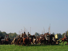 Norman Cavalry Charge Across Field Of Battle