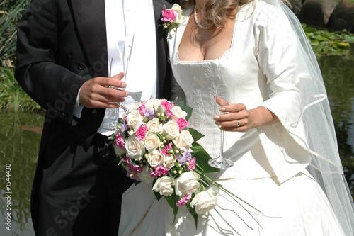 Photo drinking champange
