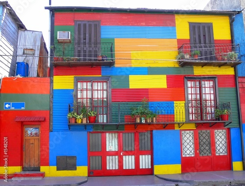 Keuken foto achterwand Buenos Aires colorfull house