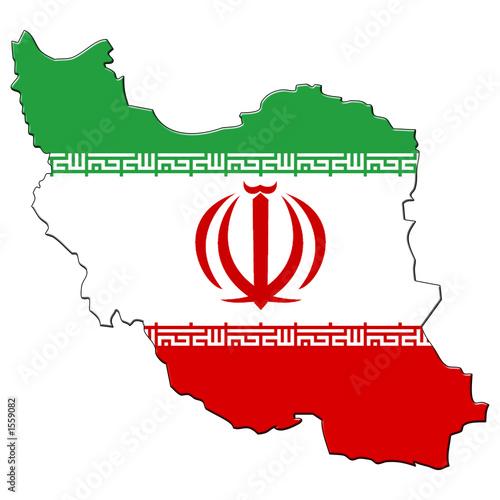 Obraz na plátně carte drapeau d' iran