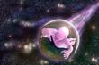 canvas print picture - alien traveller