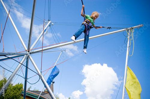 Valokuvatapetti bungee jumping