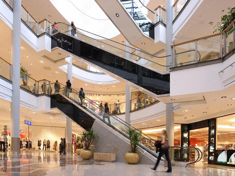 Fototapeta shoppers