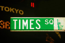 Times Square Road Sign, New York City