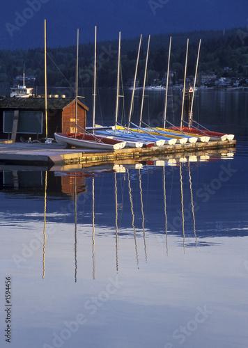 Keuken foto achterwand Schip early morning boats
