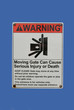 warning moving gate