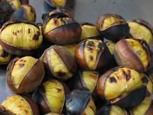 Roasted Chestnuts Closeup