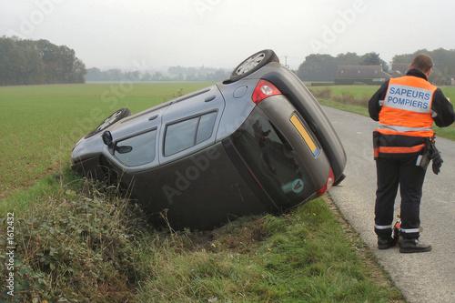 voiture accidentée Canvas Print