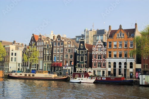 Photo  authentic amsterdam houses