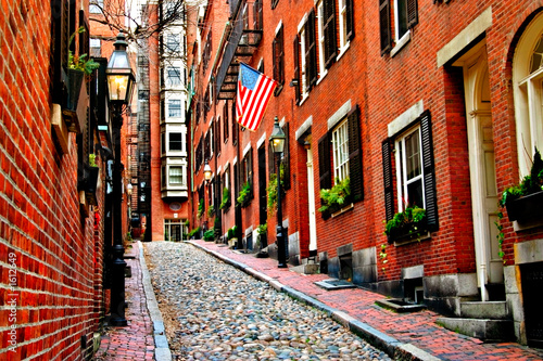 Stampa su Tela beacon hill, boston
