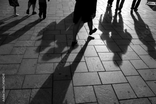 Photo shadows on the pavement 2