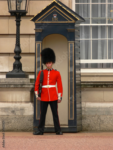 buckingham palace guard Canvas Print