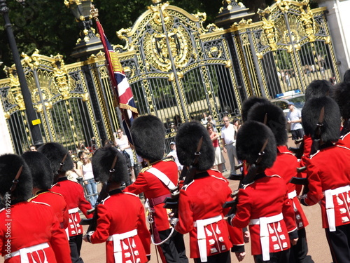 Canvas Print changing of the guard