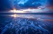 Leinwandbild Motiv ocean and sunset