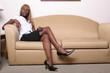 Leinwandbild Motiv african american business woman