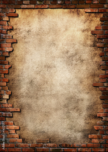 Papiers peints Brick wall brick wall grungy frame