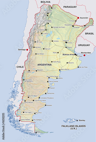 Argentinien Landkarte Argentinia Map Buy This Stock Illustration