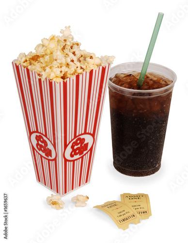 Photo  popcorn and movie