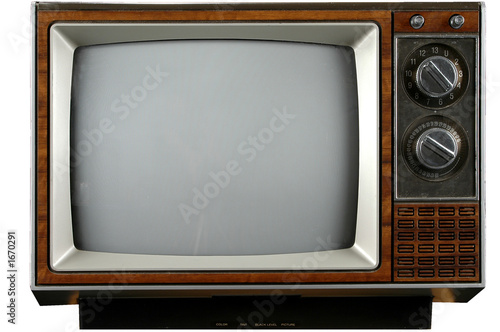 Canvas Prints Retro vintage television