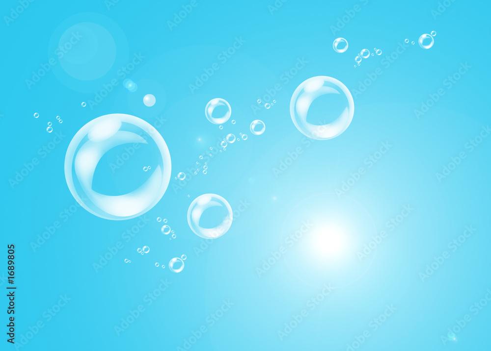 Fototapeta bulles