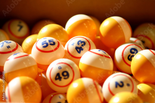 bingo balls Canvas Print