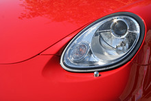 Headlight And Cowl Of The Chic Car