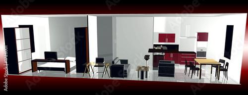 intérieur d\'appartement moderne design - Buy this stock illustration ...