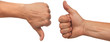 canvas print picture - thumbs up