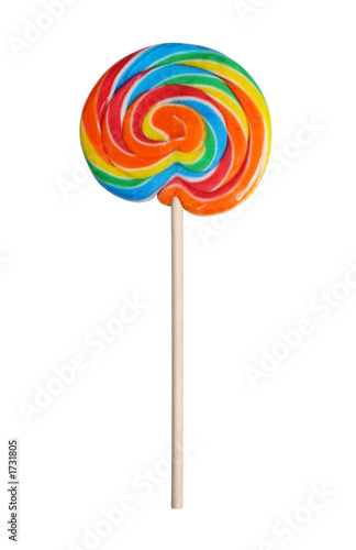 colorful lollipop with path Poster