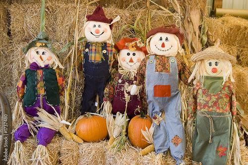 Fototapeta scarecrow family