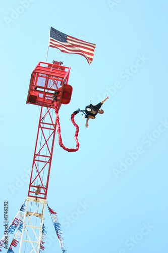 Fototapeta bungee jumper with tower
