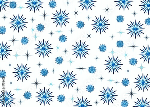 einzelne bedruckte Lamellen - christmas background. snowflakes (von elen_studio)