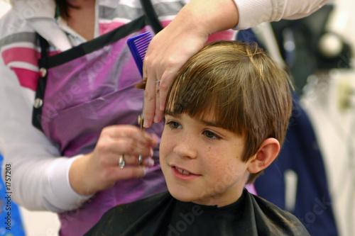 Fotografie, Obraz  boy getting haircut