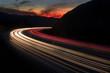 Leinwandbild Motiv freeway sunset