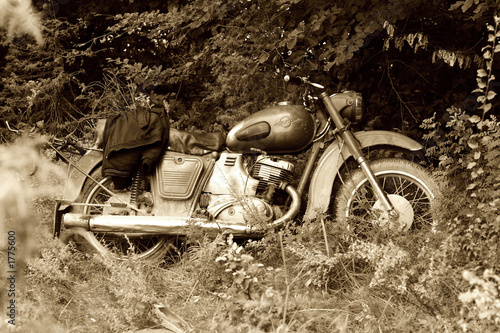 Fototapety, obrazy: classic old motorcycle