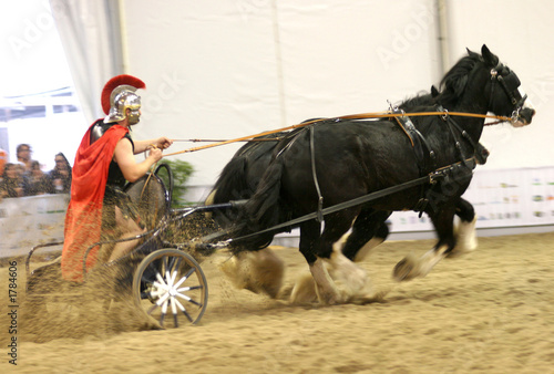 Photo roman chariot racing