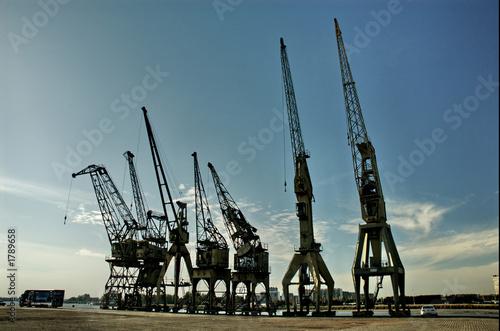 Poster Antwerp old cranes