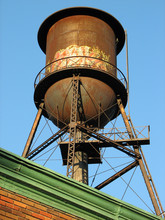 Old Water Tower On The Roof