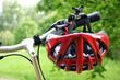 canvas print picture - bicycle helmet
