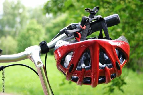 Photo bicycle helmet