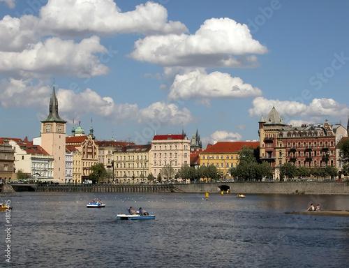 Obraz na plátně prague view from moldava