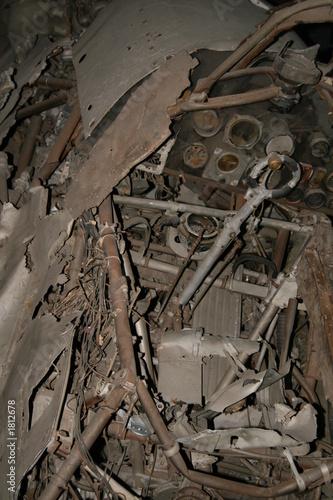 Fotografia, Obraz ww2 - shot down hurricane